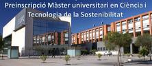 Preinscripció Màster universitari en Ciència i Tecnologia de la Sostenibilitat